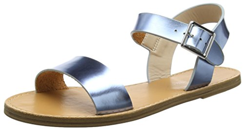 New Look WoMen Fifi Open-Toe Sandals Blue (Mid Blue)