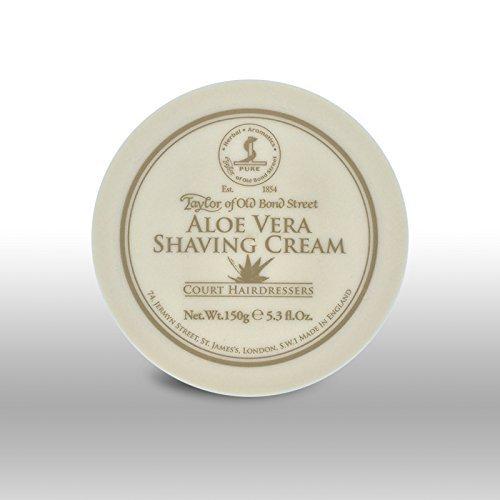 Taylor Of Old Bond Street Shaving Cream Pot 150g -Aloe Vera 01011