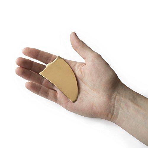 Copper Gua Sha Scraper - Triangle - Graston, IASTM, Myofascial Scraping Tool