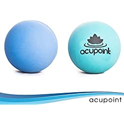 """Acupoint"" Set Of Two physical Therapy Balls, Ideal For: Yoga, Deep Tissue Massage, Trigger Point Therapy And Self Myofascial Release Physical Therapy Equipment"