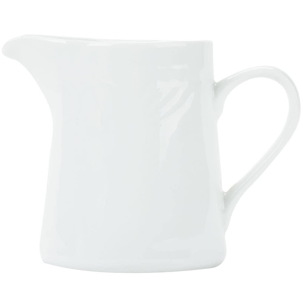 Tabletop King RSV-PC Roosevelt 6 oz. Super White Porcelain Creamer - 36/Case
