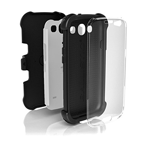 Ballistic BLCSX0932M385 Case for Samsung Galaxy SIII SG MAXX - 1 Pack - Retail Packaging - Black and White