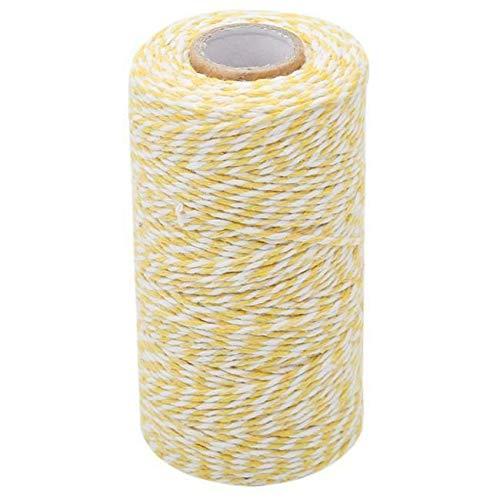 Charmkey Holiday Bakers Twine Spool Natural Cotton Mini Yarn Ply Divine G (Colors - Beige + -