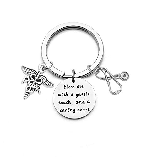 bobauna Physician Assistant Stethoscope Larait Y Necklace Thank You Gift for PA Graduation Gift (PA Bless Heart Keychain)