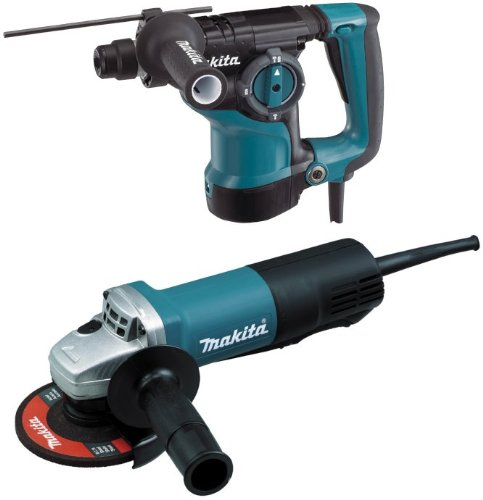 Makita Hr2811Fx 1-1/8 Inch Sds-Plus Rotary Hammer W/ 4-1/2 Inch Angle Grinder.