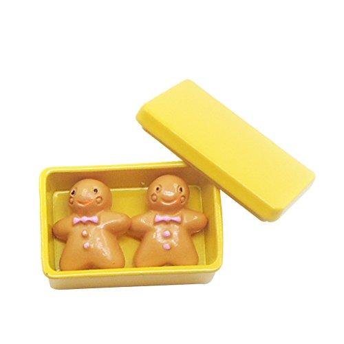 Homyl Escala 1/12 Galletas con Caja de Almacenaje en Miniaturas Accesorio Decorativo de Dollhouse - Amarillo