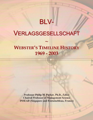 BLV-Verlagsgesellschaft: Webster's Timeline History, 1969 - 2003