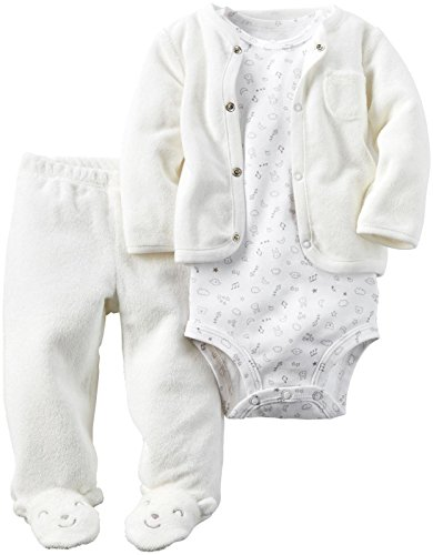 Carters Girls Piece Terry Footed