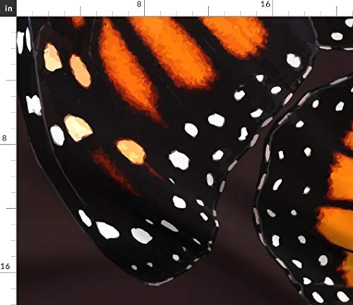 Spoonflower Monarch Fabric - Butterfly Wing Skirt Dress Large Monarch Butterfly by Bonnie Phantasm Printed on Petal Signature Cotton Fabric by The Yard