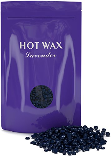 Purean Hard Wax Beans 10 6 Oz   Stripless   Painless Depilatory Waxing Kit   Natural Lavender Hot Wax Beads   For Legs  Underarms  Brazilian Bikini  Eyebrow  Upper Lip  Face   Body