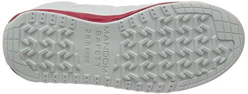 Mandom Cubierta Puntera de acero japonés seguridad Zapatillas Blanco - blanco