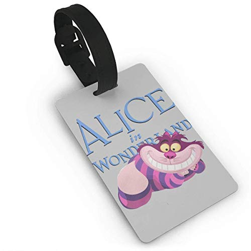 Luggage Tags Holders for Travel Luggage,Luggage Tags for Suitcases, Alice in Wonderland Cheshire Cat Luggage Tags, Bag Tag Travel ID Labels Tag for Baggage Suitcases Bags