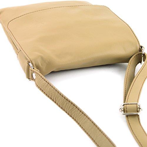 ModaModa–Italiana. Piel Piel de Napa para hombro bolso de mujer T33, color, talla siehe Beschreibung