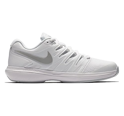 Nike Womens Entry - Nike Women's Air Zoom Prestige Tennis Shoes (8 B US, White/Metallic Silver/Pure Platinum)
