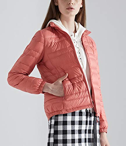 Medeshe Light Warm Pink Short Jacket Women's Coats Down Ultralight r0qrT
