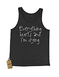 Expression Tees Everything Hurts and I'm Dying Jersey Tank Top for Men