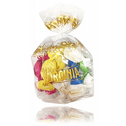 Amaretti Virginia Assorted Italian Almond Soft Amaretti Cookies in Gift Bag 220g, Gluten Free, Made in Italy
