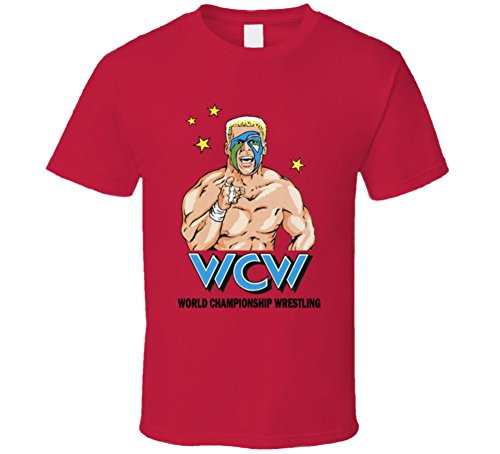 WCW Sting Retro Wrestling Legend Red T Shirt L Red by The Village T Shirt Shop