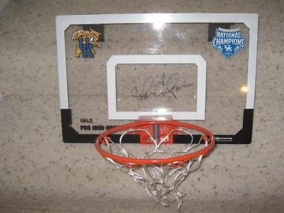 John Calipari Signed Kentucky Wildcats Basketball Backboard National Champs COA - College Autographed Miscellaneous Items