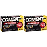 Combat Max 12 Month Roach Killing Bait, Small Roach Bait Station, 18 Count (2 Pack)