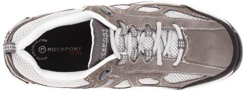 Rockport Hombre, Rock Cove de piel zapatillas, color Gris, talla 43 EU