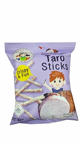 3 packs of Taro Sticks, Crispy Taro by Mae Napa, Healthy and Delicious Snack. Premium quality snack from Thailand.(33 g/ (Veggie Platter Ideas For Halloween)