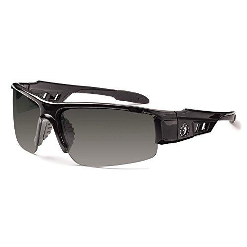 Ergodyne Skullerz Dagr Anti-Fog Safety Sunglasses- Black Frame, Smoke Lens