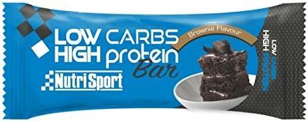 Nutrisport Low Carbs High Protein Bar 16 x 60g Brownie ...