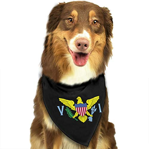 JHDKDGH-N Flag of US Virgin Islands Puppy Dogs Cats Triangle Neckerchief Pet Bandanas Scarves