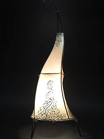 Marrakesch - Lámpara de pie Daya Natural 70 cm Piel ...