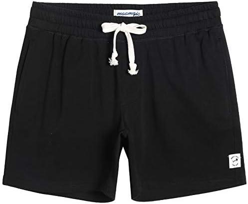 """MaaMgic Mens Athletic Gym Shorts 5.5"""" Elastic Waist Casual Pajama Pocket Jogger Men Workout Short Pants"""