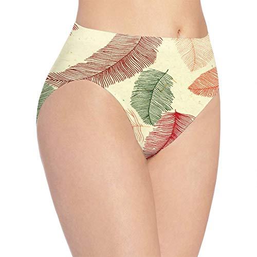 OSBLI Girls Briefs Underwear Feathers Designer Breathable Thanksgiving Day Gift