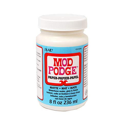 Mod Podge Waterbase Sealer, Glue and Finish for Paper (8-Ounce), CS11236 Matte Finish ()