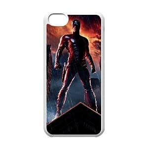 Generic hard plastic Daredevil Cell Phone Case for iPhone 5C White ABC8354137