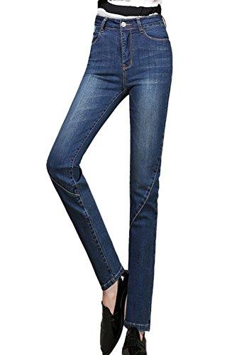 - ICEGREY Women's Jeans Skinny Straight Pencil Pants Light Blue 40