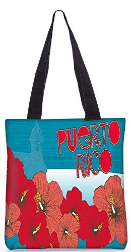 """Snoogg Puerto Reis-Einkaufstasche 13,5 X 15 In """"Shopping-Dienstprogramm Tragetasche Aus Polyester Canvas"""