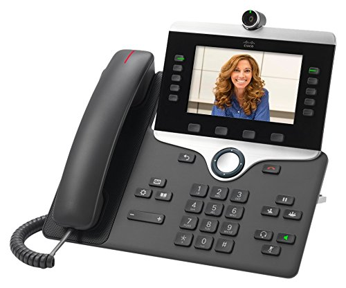 Cisco CP-8845-K9 5 Line IP Video Phone (Power Supply Not Included) by Cisco