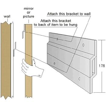 47 Quot Zbar Hanging System Bar Z Bracket Z Bar Mirror