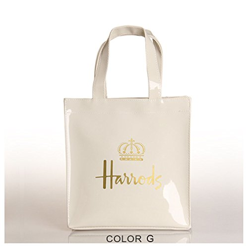 Amazon.com: Harrods Gold Crown PVC hombro bolsa Carrier de ...