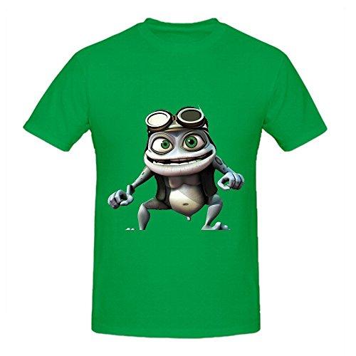 Crazy Frog Shirts 100 Cotton Men Round Neck ()