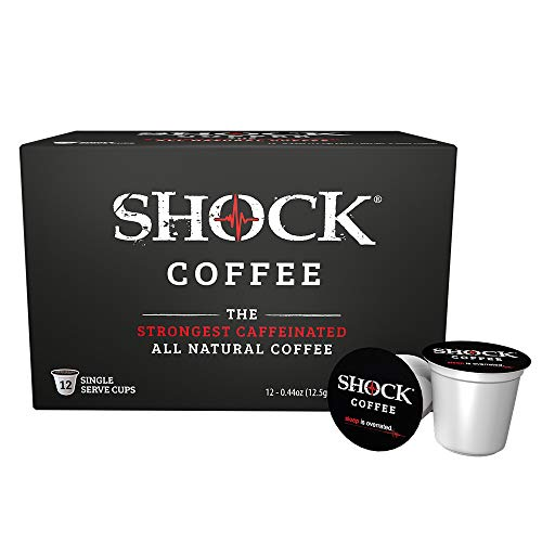 Shock Coffee Single Serve Cups for Keurig K-Cup Brewers, 12 Count 0.44oz