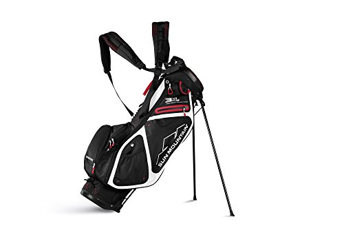 Sun Mountain Golf 2018 3.5 LS Stand Bag BLK-WHT-RED (Wht Bag)