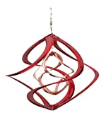 wind spinners outdoor - Red Carpet Studios Cosmix Copper and Red Wind Spinner