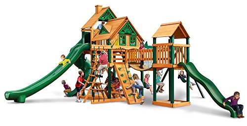 Tree House Swing Set with Timber Shield and Safe Entry Ladder (Ladder Entry)