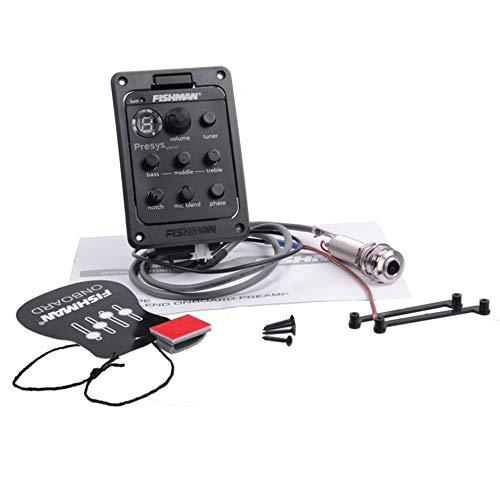 Fishman 4-Band EQ Equalizer Recolección de guitarra acústica Afinador de guitarra Color negro - negro: Amazon.es: Amazon.es