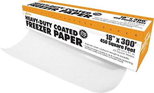 - Weston Heavy Duty Freezer Paper in Dispenser Box, 18-Inch-by-300-Feet (83-4001-W) with Cutter