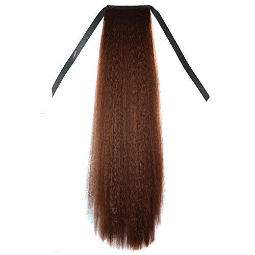 Abwin Bundled Fluffy Long Corn Hot Roll Ponytail / Dark Brown (Corn Roll Hairstyle)