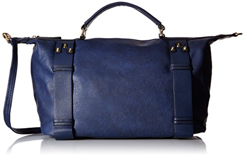 MG Collection Bowler Tote Bag, Navy, One Size