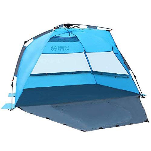 OutdoorMaster Pop Up Beach Tent - Easy to Set Up Portable Beach Shade with UPF  sc 1 st  Mom Loves Best & 10 Best Baby Beach Tents (2019 Reviews) - Mom Loves Best