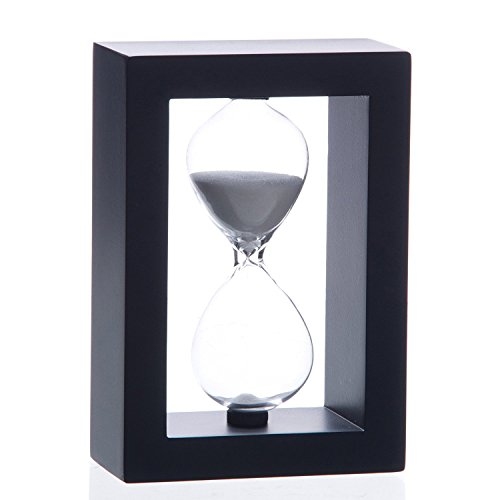 Hourglass Large (Bellaware 60 Minutes Hourglass, Wood Sand Timer)